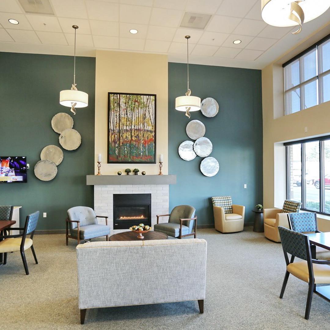 lounge area at Lake City Way Senior Housing