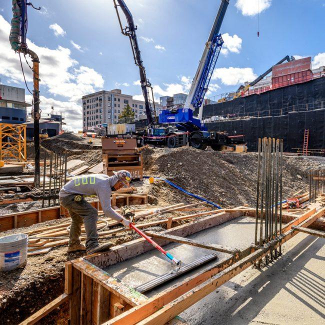 Photo of construction at St. Helens Apartments in Tacoma, WA